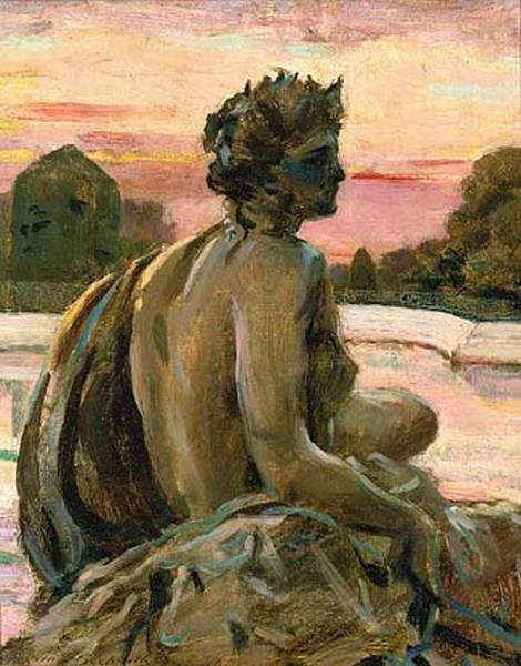 Beckwith James Carroll One of the Figures at the Parterre d Eau